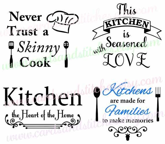 Kitchen Signs Sayings: Kitchen SVG Kitchen Sayings SVG Kitchen Decor Digital