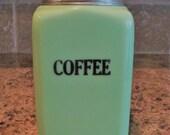 FREE USA Shipping-Vintage McKee Jadeite 28oz COFFEE Canister Jadite