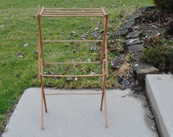 Vintage Folding Drying Rack Wood by Worldbest Industries Inc.