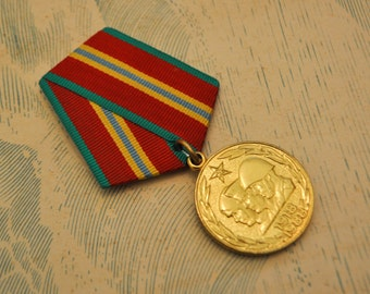 """Vintage 1988 Soviet Russian Jubilee medal """"70 years of the armed forces of the USSR""""."""