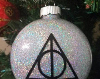 Deathly Hallows Harry Potter  inspired Ornament