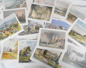 UK Landscapes art Prints Ephemera Pack 22  Large Color Prints England Wales Scotland
