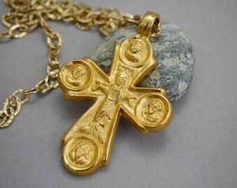 Cross Necklace Heavy Big Museum Replica Cross Alva Museum Replicas New York Gold Cross Necklace