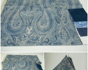 "Ralph Lauren Fabric - Birchwood Paisley - Dusk-pc w 27"" x 26"" L- LCF66553F"
