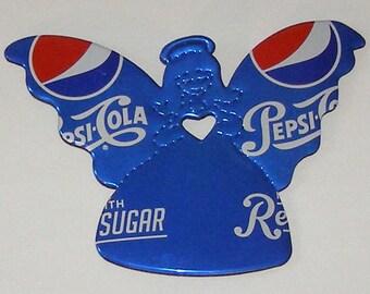 Angel Magnet / Ornament - Blue Pepsi Cola Soda Can