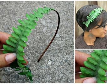 Realistic Fern headband, Fairy, woodland hair accessory, forest fairy
