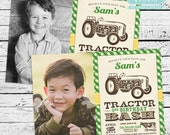 Tractor Birthday Party Photo Invitation + Our 4 Favorite Printables!