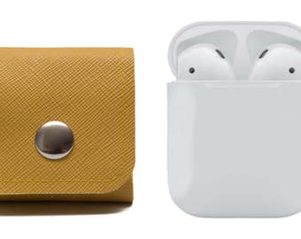 AirPods Case. Earphones Cover. Air Pods Carrying Solution. EarBuds. Yellow. WeirdOldSnail