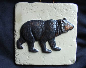 Bear Wall Hanging, Shipping Included, Made In USA
