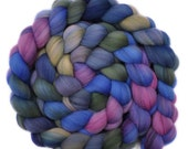 Hand dyed roving - 21.5μ Merino wool combed top spinning fiber - 4.2 ounces - Easy Going 1