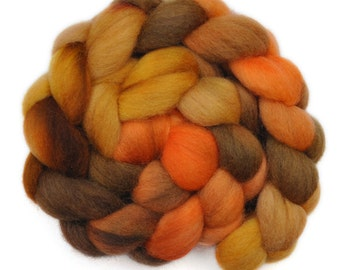 Hand painted roving - Corriedale Cross wool spinning fiber - 4.0 ounces -  Going East 2