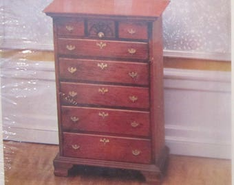 Chippendale Chest of Drawers Kit 40066  House of Miniatures