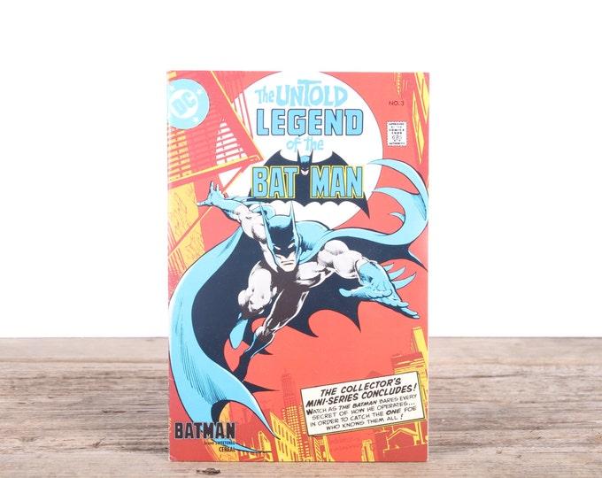 Batman Comic Book / 1980's The Untold Legend of the Bat Man Collectible No 3 / Old Comic Book / DC Comics Book / Super Hero Gift