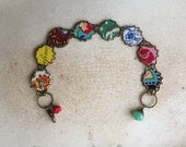 """Tin Jewelry Bracelet """"Carnival"""" Tin for the Ten Year Tenth Wedding Anniversary"""