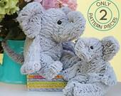 KIT - Ellie The Elephants Mama and Baby Elephant Kit from Shannon Fabrics-  Each Kit makes 2 Elephant