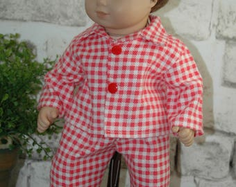 American, made, doll, pajamas, flannel, bitty, 15 inch doll