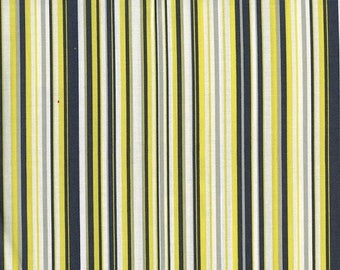 ON SALE Fat Quarter Fabric for quilt or craft Michael Miller Play Stripe in Citron