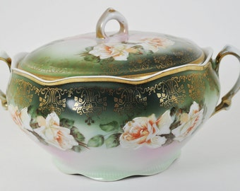 Mignon Bavaria ZS & C Porcelain Tureen Lidded Serving Bowl Dish 1880-1910