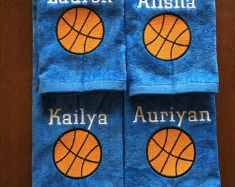 Personalized basketball towel, great seller, basketball team towels, basketball gift *one name on this listing, 16 x 26 with no hook
