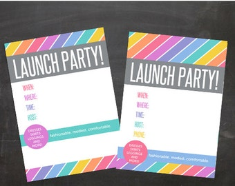 Fashion Consultant Retailor Clothing Boutique Launch Party Invitation JPG blank files