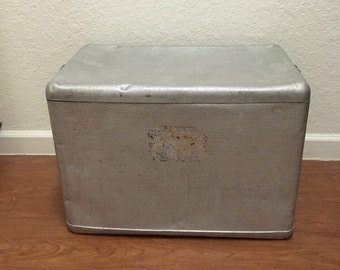 Vintage  aluminum Cooler Chest