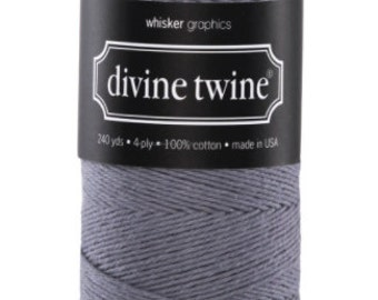Gray Twine - 240 Yards, Divine Twine, Gray String, Bakers Twine, Baby Shower, Wedding, DIY Craft Supplies