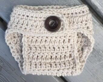 Basic Diaper Cover, Newborn Diaper Cover, Crochet DIAPER COVER