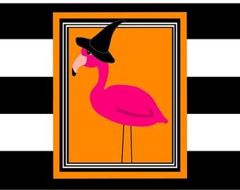 Orange Wall Decor flamingo wall decor | etsy