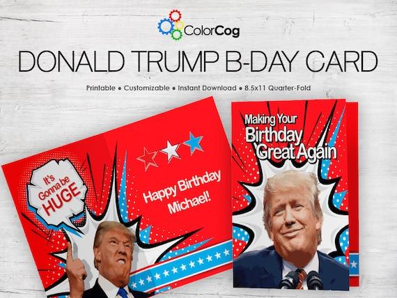 customizable printable birthday card pdf funny donald trump