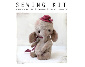 SEWING KIT for sewing toy like Artist Teddy Slonik 5,5 inch