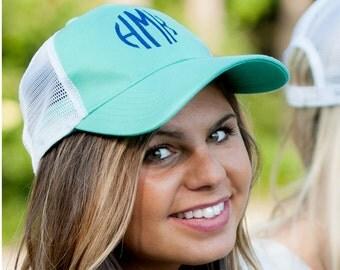 Mint Trucker Hat - Personalized Cap - Baseball Cap - Womens Hat - Monogram Cap - Gift for Her - Womens Cap - Mint Hat - Women's Gift - Gift