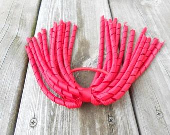 Red Korker pony streamer