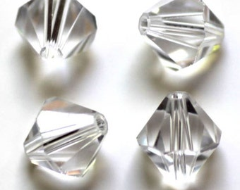 10mm. 25CT. AAA Quality Bicone Glass Crystal Beads (S35E)