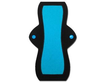 "Reusable Feminine Pad (10"" Heavy - Blue Jersey)"