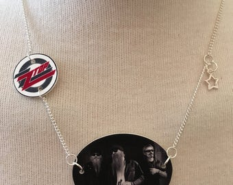 Silver Plated Handmade ZZ Top logo Necklace