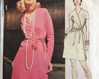 Vogue Americana #2281 Vintage Sewing Pattern Designer Chuck Howard Wrap Dress ©1970