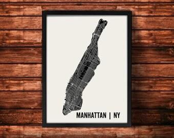 Manhattan Map Artwork | Map of Manhattan | Manhattan New York Map | Manhattan City Map | Manhattan Poster | Manhattan Wall Art Print