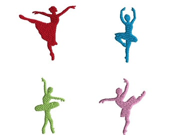 Mini Ballet Silhouette Machine Embroidery Designs Set-INSTANT DOWNLOAD