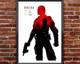 "Dredd Movie Poster 12X18"""