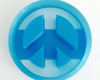 Peace Sign Cookie Cutter, 3D printed Cookie cutter,