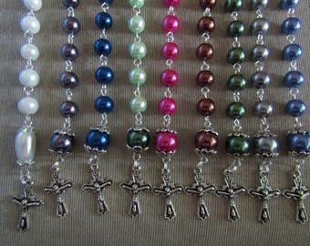First Communion/Confirmation Chaplet - One Decade Rosary - Tenner - Pocket Rosary - Prayer Beads - Christian Chaplet - Catholic Rosary