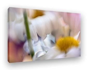 Floral Art, Canvas Framed Print, Abstract Wall Art, Floral Decor, Modern Art, Contemporary Home Decor, Ready To Hang Art, Floral Wall Decor