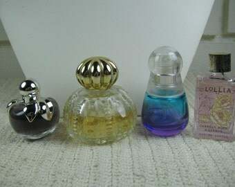 4 Mini/small vtg perfume bottles
