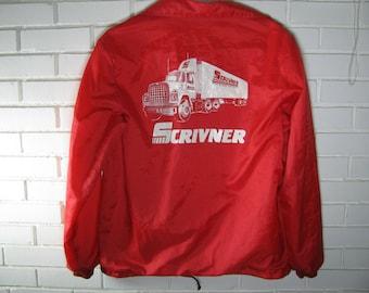 70's Red Trucker jacket/windbreaker size M