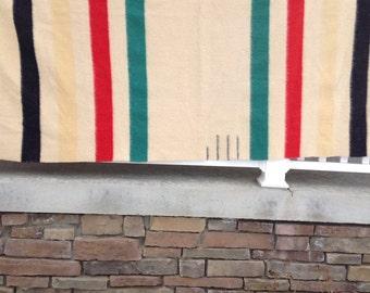 Vintage Hudson Bay Wool Blanket / 3.5 Point Stripe  Hudson Bay Wool Blanket