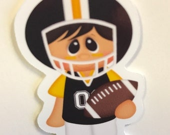 Black and Yellow  Football Magnetic Bookmark