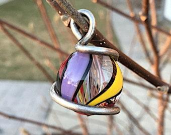 1970's Marble Pendant