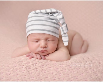 hospital hat - newborn photo prop - baby boy - baby girl - knot hat - coming home outfit - newborn hospital hat
