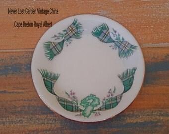 Butter Pats Plate Cape Breton Island Royal Albert Vintage