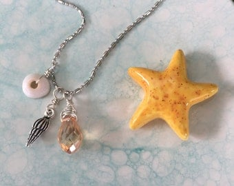 Short n Sweet Beach Charms Necklace